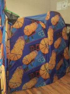 Bunkbed Cover Made from Repurposed Playhut