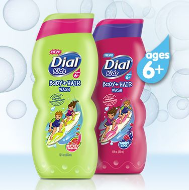 dial kids hair and body wash