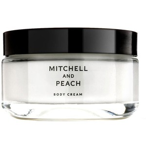 mitchelland peach body cream sample