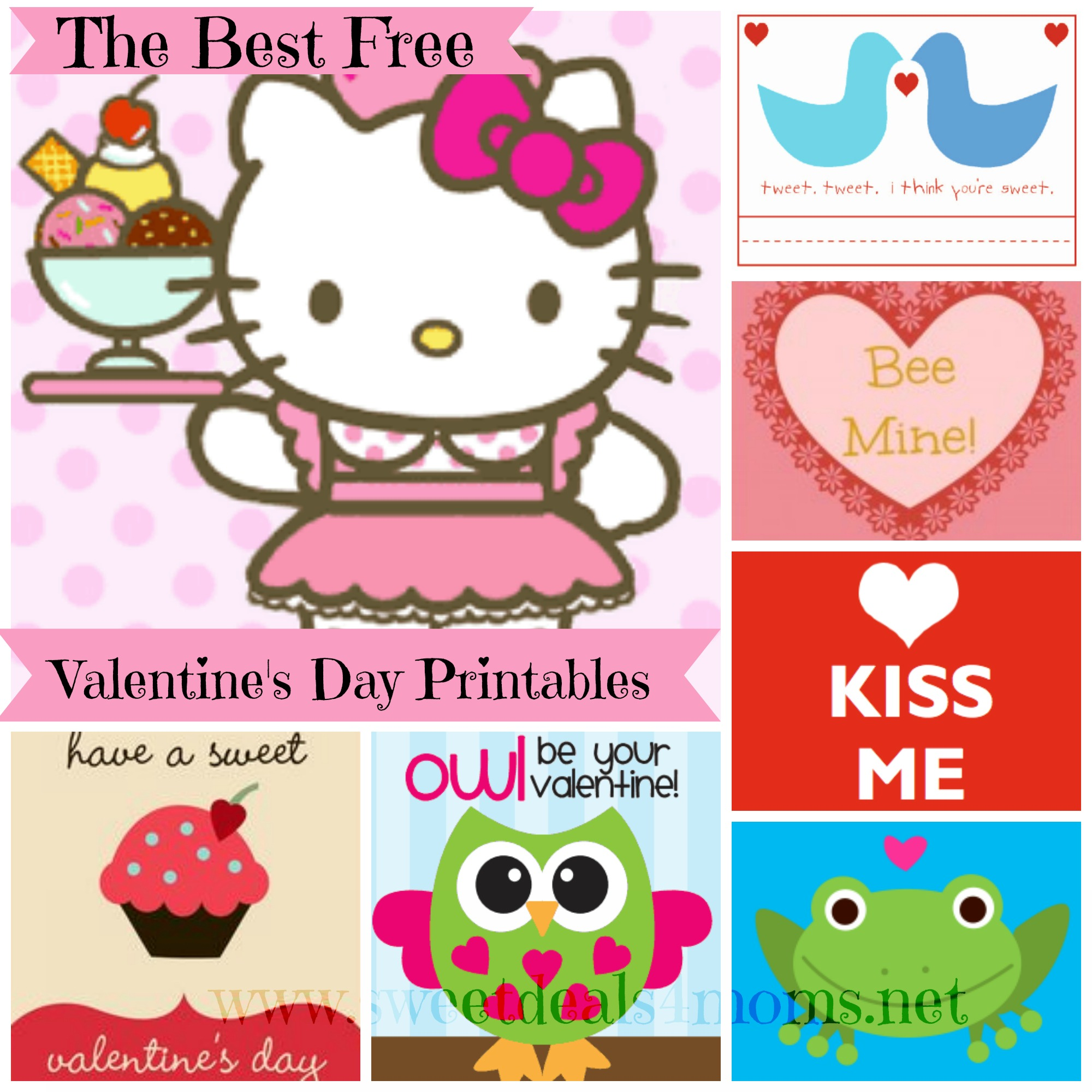 Free Printable Valentines Day Card Roundup Sweet Deals 4