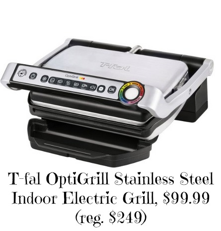 T fal optigrill stainless steel indoor electric grill 99 - T fal optigrill indoor electric grill ...