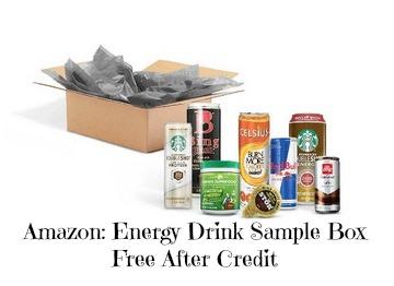 free energy drink sample box